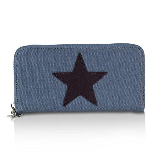 3eb4a422c81726 Glamexx24 Geldbörse mit Stern Muster, Portemonnaie Vintage Design  Brieftasche Geldbeutel